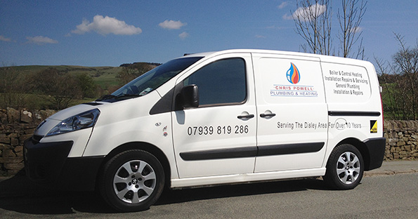 Chris Powell Plumbing & Heating Van